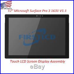 12 Microsoft Surface Pro 3 1631 V1.1 LTL120QL01-003 LCD Touch Screen Assembly