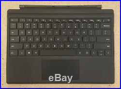 Black Surface Type Cover Keyboard for Microsoft Surface Pro 7, 6, Pro 5, Pro 4 3
