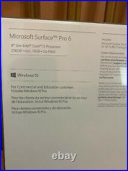 Brand New Microsoft Surface Pro 6 16 GB RAM i5-835 256 GB Keyboard Cover Bundle