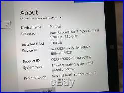 MICROSOFT SURFACE PRO 3 256GB SSD INTEL i7 8GB TABLET LAPTOP