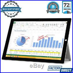 MICROSOFT SURFACE PRO 3 512GB 8GB RAM i7 SILVER TABLET COMPUTER with POWER SUPPLY