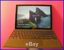 Microsoft Surface 4 pro I5-6300U 2.4GHz 256GB SSD 8GB memory Model 1724 #jj-200