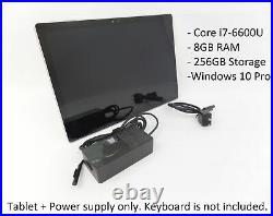 Microsoft Surface Book 1703 13.5 i7-6600U 8GB 256GB W10P Tablet + Power Supply