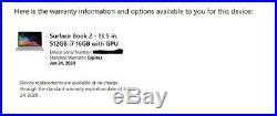 Microsoft Surface Book 2 13, Core i7, 512GB SSD, 16GB RAM, Win 10 Pro