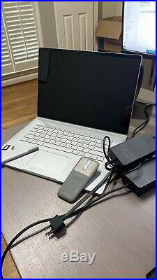 Microsoft Surface Book 2 15/i7/16GB/1TB with Dock, 256gb SD, pro pen & Arc Mouse