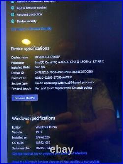 Microsoft Surface Book 2 15 i7 16GB RAM 1TB SSD nVidia GTX 1050 With extras