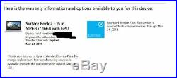 Microsoft Surface Book 2 15 inch, i7, 16GB RAM, 512GB SSD, Windows 10 Pro