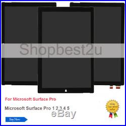 Microsoft Surface Pro 1 2 3 4 5 6 LCD Screen Digitizer Assembly Replacement