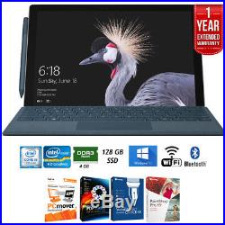 Microsoft Surface Pro 12.3 Intel i5-7300U 4/128GB Touch Tablet+Ext. Warranty Pa