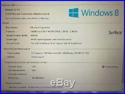 Microsoft Surface Pro 3 256GB 8GB Intel i7-4650U With New Keyboard and Case