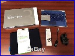 Microsoft Surface Pro 3 256GB, Wi-Fi, 12in Silver New Keyboard, Stylus, Case