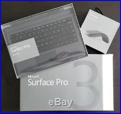 Microsoft Surface Pro 3 8GB Arc Touch Mouse Keyboard Type Cover Bundle