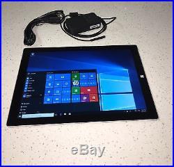 Microsoft Surface Pro 3 Core i5-4300U 1.90 GHz 4GB RAM 12 128GB Windows 10 Pro