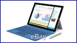 Microsoft Surface Pro 3 i7 4650u 8GB 256GB Tablet 12in + Keyboard Win 10 Pro