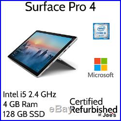 Microsoft Surface Pro 4 12.3 Tablet i5 4GB 128GB Windows 10 (CR5-00001) SP4