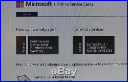 Microsoft Surface Pro 4 128GB, Wi-Fi, 12.3in. Core m3, 4GB RAM, WARRANTY 5/4/18