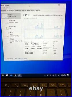 Microsoft Surface Pro 4 1724 i5-6300U 2.4GHz 8GB RAM 256GB SSD Win 10 Pro