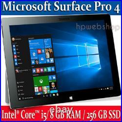 Microsoft Surface Pro 4 Intel i5 8GB RAM /256GB SSD + Keyboard Win 10 Pro A+