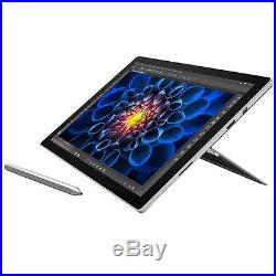 Microsoft Surface Pro 4 Tablet 12.3 HD Display Core i5 128G SSD Silver CR5-00001