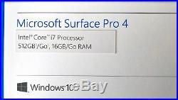 Microsoft Surface Pro 4 i7 6650U 2.2GHz 16GB RAM 512GB SSD Win 10 12.3 Tablet