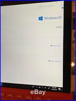 Microsoft Surface Pro 5 12.3 1796 Intel i5-7300U 2.60GH 8GB RAM 128GB SSD READ