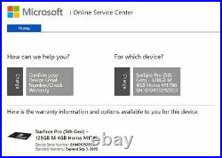 Microsoft Surface Pro 5'12.3 Intel Core M3-7th Gen-4GB, 128GB SSD Silver