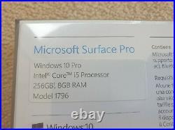 Microsoft Surface Pro 5 Model 1796 LTE Intel Core I5 12.3 256gb 8gb RAM Sealed