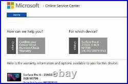 Microsoft Surface Pro 6 12.3 i5-8250U 8th Gen 8GB 256GB SSD Black