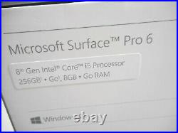 Microsoft Surface Pro 6 12.3 inch Intel Core i5 8GB RAM 256GB SSD- Matte Black