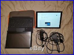 Microsoft Surface Pro 6 Black 256GB 8GB RAM i5 + Keyboard with scanner + Extras
