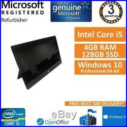 Microsoft Surface Pro i5-3317U @ 1.7GHz 4GB RAM, 128GB SSD Win 10 Pro 10.6