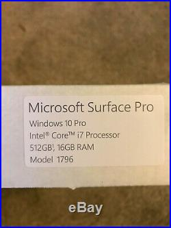 Microsoft Surface Pro i7, 512GB, 16GB RAM, Wi-Fi (FKH-00001) SEE NOTE