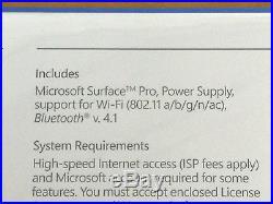 NEW 2017 Microsoft Surface Pro Tablet 12.3 Core i5-7300U 8GB 256GB SSD FJY-00001