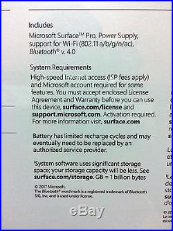 NEW 2017 Microsoft Surface Pro i5/256GB/8GB RAM/Win 10/ Newest Model #FJX-00001
