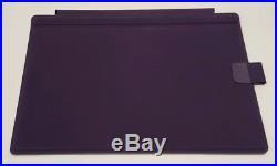 Purple Type Cover Keyboard w Pen Loop for Microsoft Surface Pro 6, Pro 5, 4, 3
